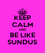 KEEP CALM AND BE LIKE SUNDUS - Personalised Poster A4 size