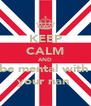 KEEP CALM AND be mental with  your nan  - Personalised Poster A4 size