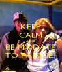 KEEP CALM AND BE MY DATE TO PALACE? - Personalised Poster A4 size
