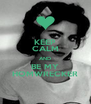 KEEP CALM AND BE MY HOMWRECKER - Personalised Poster A4 size
