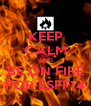 KEEP CALM AND BE ON FIRE FOR ESFF14 - Personalised Poster A4 size