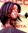 KEEP CALM AND Be PERRONITA - Personalised Poster A4 size