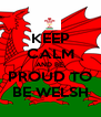 KEEP CALM AND BE  PROUD TO BE WELSH - Personalised Poster A4 size