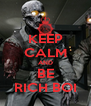 KEEP CALM AND BE RICH BOI - Personalised Poster A4 size