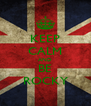 KEEP CALM AND BE ROCKY - Personalised Poster A4 size