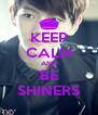 KEEP CALM AND BE SHINERS - Personalised Poster A4 size