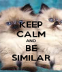 KEEP CALM AND BE SIMILAR - Personalised Poster A4 size