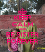 KEEP CALM AND BE SISTER FOREVER - Personalised Poster A4 size
