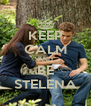 KEEP CALM AND BE STELENA - Personalised Poster A4 size