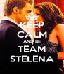 KEEP CALM AND BE TEAM STELENA - Personalised Poster A4 size