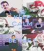 KEEP CALM AND  BE THE 1 - Personalised Poster A4 size