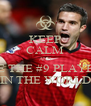 KEEP CALM AND BE THE #9 PLAYER IN THE WORLD - Personalised Poster A4 size