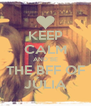 KEEP CALM AND BE THE BFF OF JÚLIA - Personalised Poster A4 size