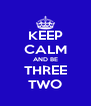 KEEP CALM AND BE THREE TWO - Personalised Poster A4 size