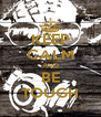 KEEP CALM AND BE TOUGH - Personalised Poster A4 size