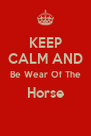 KEEP CALM AND Be Wear Of The Horse  - Personalised Poster A4 size
