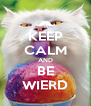 KEEP CALM AND BE WIERD - Personalised Poster A4 size