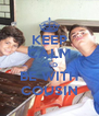 KEEP CALM AND BE WITH COUSIN - Personalised Poster A4 size