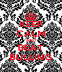 KEEP CALM AND BEAT BULLING - Personalised Poster A4 size