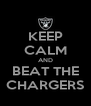KEEP CALM AND BEAT THE CHARGERS - Personalised Poster A4 size