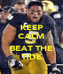 KEEP CALM AND BEAT THE TIDE - Personalised Poster A4 size