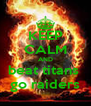 KEEP CALM AND beat titans  go raiders - Personalised Poster A4 size
