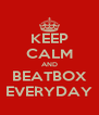KEEP CALM AND BEATBOX EVERYDAY - Personalised Poster A4 size