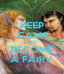 KEEP CALM AND BECOME A FAIRY - Personalised Poster A4 size
