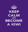 KEEP CALM AND BECOME A KIWI - Personalised Poster A4 size