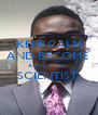 KEEP CALM AND BECOME  A POLITICAL  SCIENTIST   - Personalised Poster A4 size
