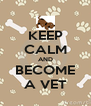 KEEP CALM AND BECOME A VET - Personalised Poster A4 size