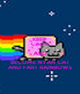 KEEP CALM AND BECOME NYAN CAT AND FART RAINBOWS - Personalised Poster A4 size
