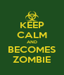 KEEP CALM AND BECOMES ZOMBIE - Personalised Poster A4 size