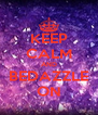 KEEP CALM AND BEDAZZLE ON - Personalised Poster A4 size