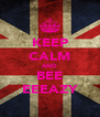 KEEP CALM AND BEE EEEAZY - Personalised Poster A4 size