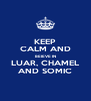 KEEP CALM AND BEIEVE IN LUAR, CHAMEL AND SOMIC - Personalised Poster A4 size