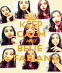 KEEP CALM AND BEIJE  A FABIANA - Personalised Poster A4 size