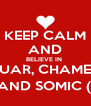 KEEP CALM AND BELIEVE IN  LUAR, CHAMEL AND SOMIC (: - Personalised Poster A4 size