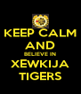 KEEP CALM AND BELIEVE IN XEWKIJA TIGERS - Personalised Poster A4 size
