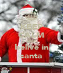 KEEP CALM AND belive in santa - Personalised Poster A4 size