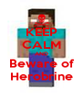 KEEP CALM AND Beware of Herobrine - Personalised Poster A4 size