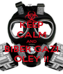 KEEP CALM AND BIBER GAZI OLEY !! - Personalised Poster A4 size