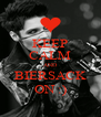 KEEP CALM AND BIERSACK ON :) - Personalised Poster A4 size