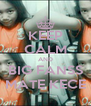 KEEP CALM AND BIG FANSS MATE KECE - Personalised Poster A4 size
