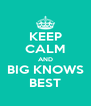 KEEP CALM AND BIG KNOWS BEST - Personalised Poster A4 size