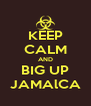 KEEP CALM AND BIG UP JAMAlCA - Personalised Poster A4 size