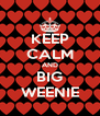 KEEP CALM AND BIG WEENIE - Personalised Poster A4 size