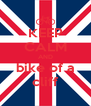 KEEP CALM AND bike of a cliff - Personalised Poster A4 size
