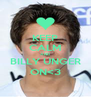 KEEP CALM AND BILLY UNGER ON<3 - Personalised Poster A4 size