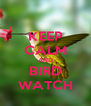 KEEP CALM AND BIRD WATCH - Personalised Poster A4 size